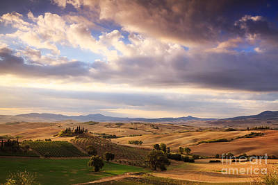Rolling Hills Of Tuscany Print by Matteo Colombo