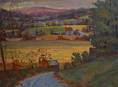 Painting - Rolling Hills Of Upstate New York by Len Stomski