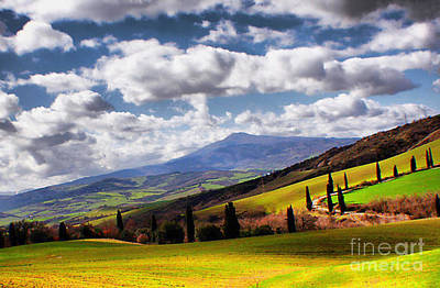 Photograph - Rolling Hills Of Tuscany by Polly Peacock