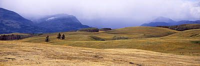 Pasture Scenes Photograph - Rolling Landscape With Mountains by Panoramic Images