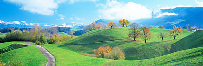 Zug Photograph - Rolling Landscape, Zug, Switzerland by Panoramic Images