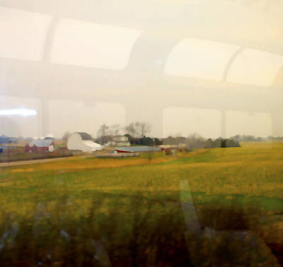 Photograph - Rolling Past Farmland by Barbara Giordano
