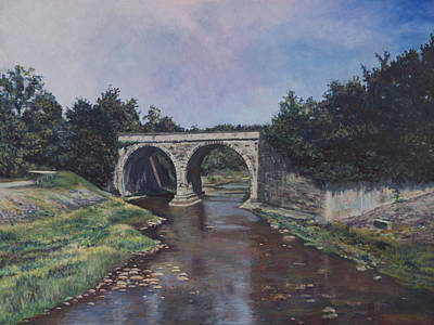 Painting - Rolling Rock Bridge by David P Zippi