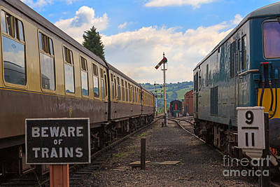 Rolling Stock Of The Gloucestershire Warwickshire Railway Art Print by Louise Heusinkveld