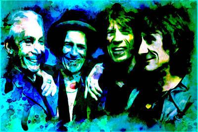 Mick Jagger And Keith Richards Digital Art - Rolling Stones by Brian Reaves