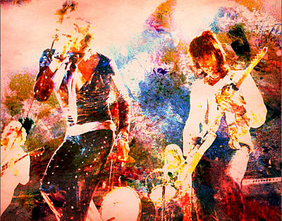 Mick Jagger And Keith Richards Digital Art - Rolling Stones Live by Brian Reaves