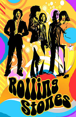 Digital Art - Rolling Stones Poster Art by Robert Korhonen