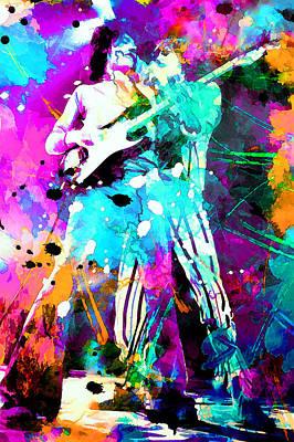 Rolling Stones Art Print by Rosalina Atanasova