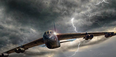 Boeing Digital Art - Thundering B-52 by Peter Chilelli