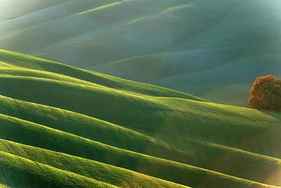 Rolling Tuscany Landscape At Evening Art Print by Pavliha