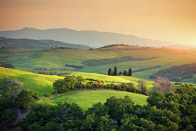 Photograph - Rolling Tuscany Landscape by Borchee