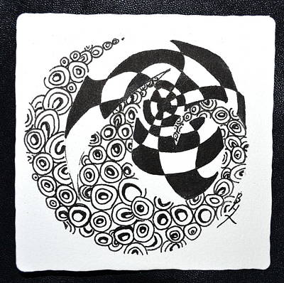 Chi Drawing - Rolling Zen by Beverley Harper Tinsley