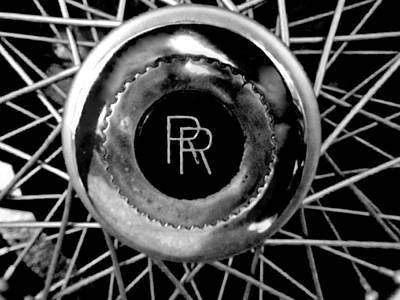 Photograph - Rolls Royce - Black And White by Joseph Skompski