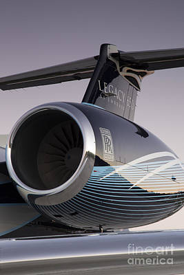Rolls-royce Ae 3007a2 On Embraer Legacy 650 Art Print by Dustin K Ryan