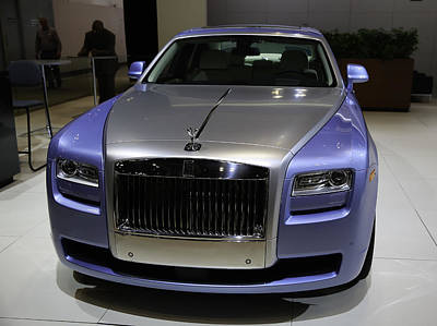 Rolls-royce Showcased At The New York Auto Show Print by E Osmanoglu