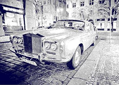Drawing - Rolls-royce Silver Shadow  - Parallel Hatching by Samuel Majcen