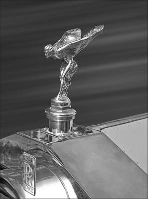 Photograph - Rolls Royce Spirit Of Ecstacy Hood Ornament In Silver by Ginger Wakem