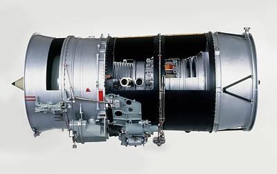 Part Of Photograph - Rolls-royce Turbofan Engine by Dorling Kindersley/uig