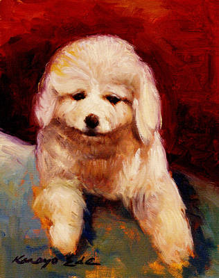 Painting - Rolly - Dog Puppy Art by Kanayo Ede