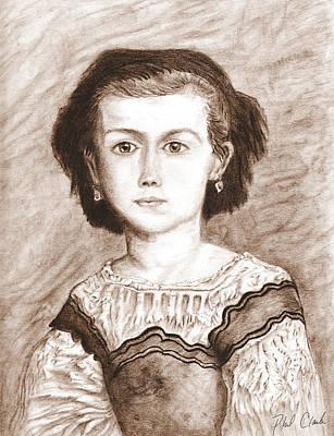 Phil Clark Drawing - Romaine Lascaux by Phil Clark