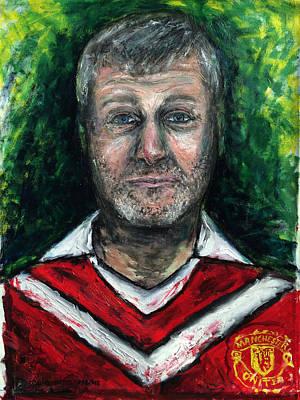 Larry David Painting - Roman Abramovich   by Antonio Ortiz