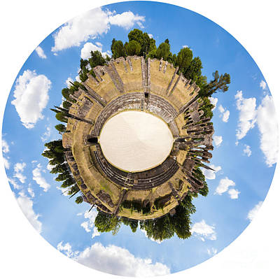 Photograph - Roman Amphitheatre In Saintes by Peter Noyce