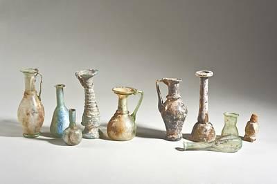 Roman And Islamic Period Glass Bottles Art Print