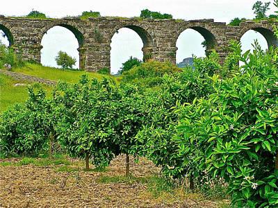 Aqueduct Digital Art - Roman Aqueduct In Second Century In Aspendos-turkey by Ruth Hager
