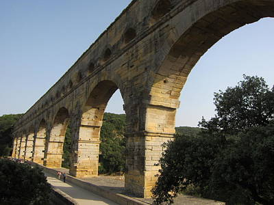 Roman Aqueduct Art Print by Pema Hou