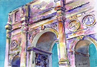 Painting - Roman Arch by Kathleen  Gwinnett
