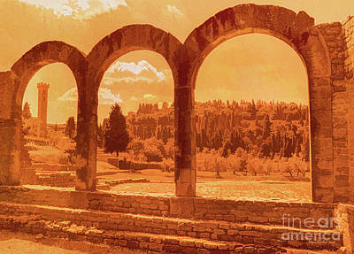 Roman Arches At Fiesole Art Print