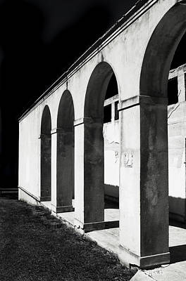 Photograph - Roman Arches In Black And White by John Orsbun