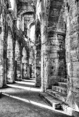 Roman Arena At Arles Bw Art Print by Mel Steinhauer
