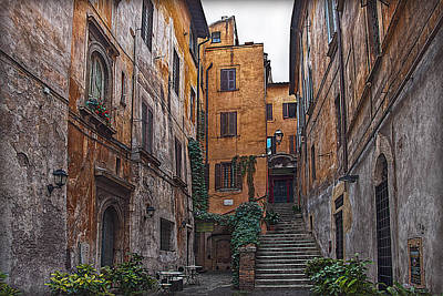 Architectur Photograph - Roman Backyard by Hanny Heim