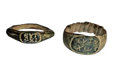 Roman Bronze Rings Art Print