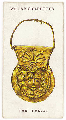 Gorgon Drawing - Roman Bulla Talisman Featuring by Mary Evans Picture Library