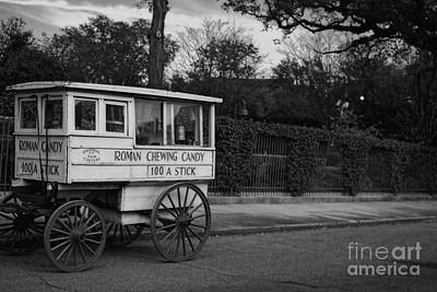 Roman Candy Cart Photograph - Roman Candy In Black And White by Kathleen K Parker