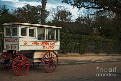 Roman Candy Wagon New Orleans Art Print by Kathleen K Parker