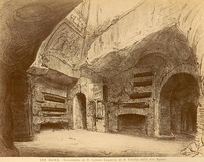 Roman Catacombs Print by Granger