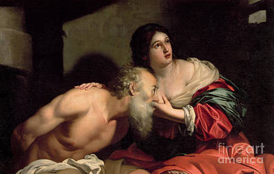 Charity Painting - Roman Charity by Nicolas Regnier