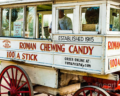 Roman Candy Cart Photograph - Roman Chewing Candy Nola by Kathleen K Parker