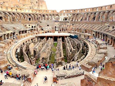 Photograph - Roman Colosseum by Alan Lakin