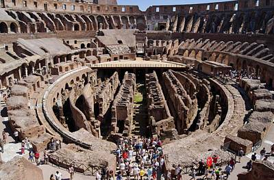 Seating Photograph - Roman Colosseum. by Mark Williamson