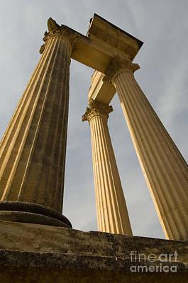 Roman Archaeology Photograph - Roman Columns, Glanum, France by John Shaw