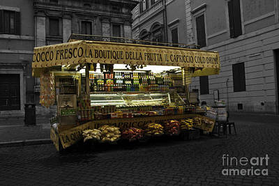 Photograph - Roman Confectionary Cart by James Lavott