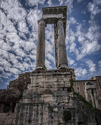 Architecture Photograph - Roman Forum Columns Rome Italy by Bruce Ingwall