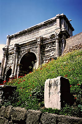 Photograph - Roman Forum - Arch Of Titus by Donna Proctor