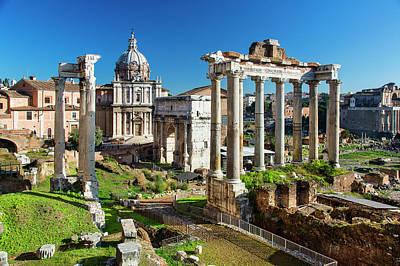 Photograph - Roman Forum, Arch San Severus And by Sylvain Sonnet