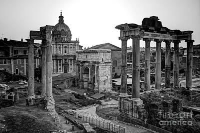 Roman Forum At Sunrise Art Print by Anthony Festa