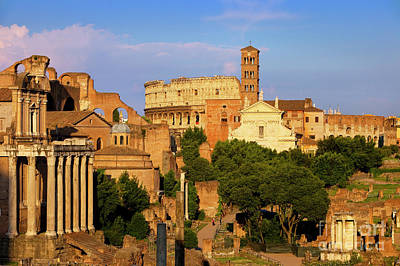 Roman Forum At Sunset Print by Brian Jannsen